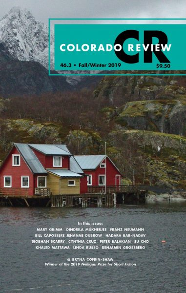 Colorado Review fall/winter 2019 cover