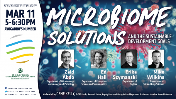Avogadros Number - Microbiome Solutions panel discussion flyer