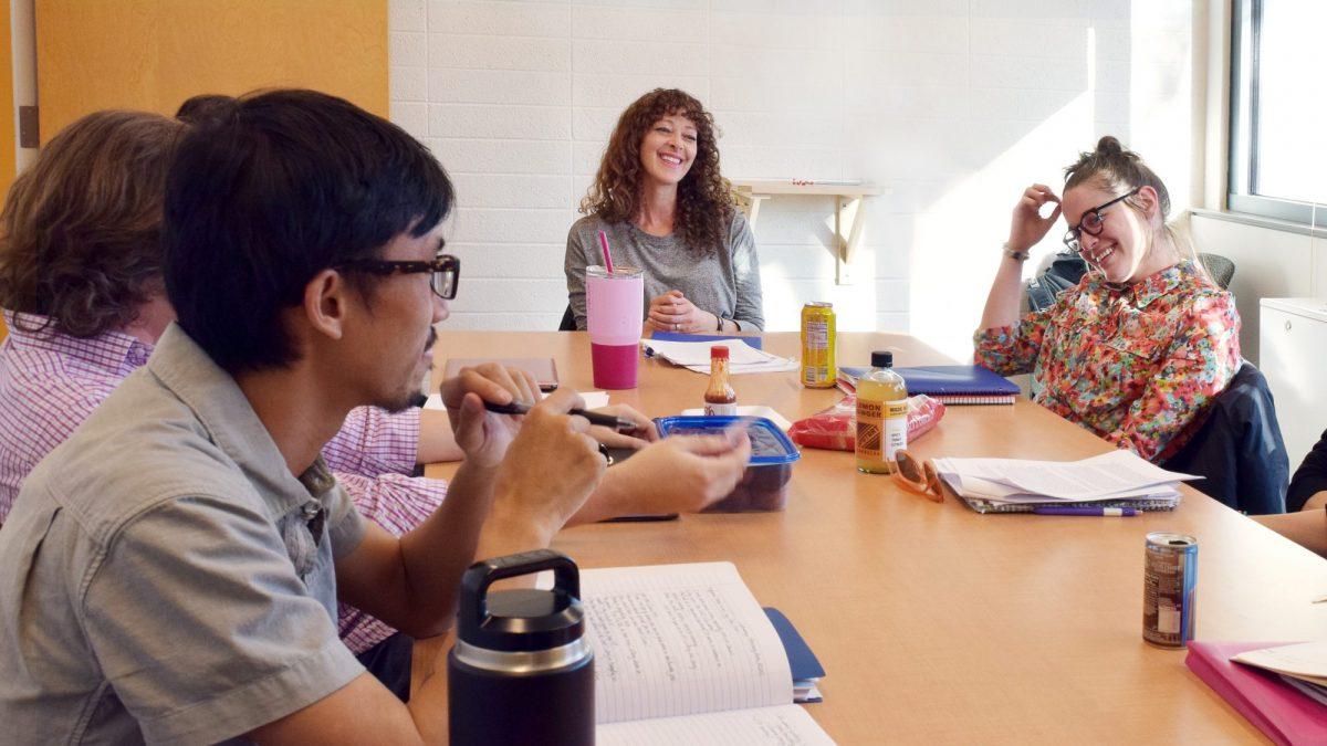 Ramona Ausubel leads graduate workshop