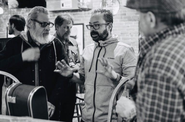 John Barhardt directing on set