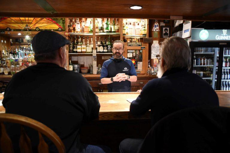 John Barnhardt behind bar