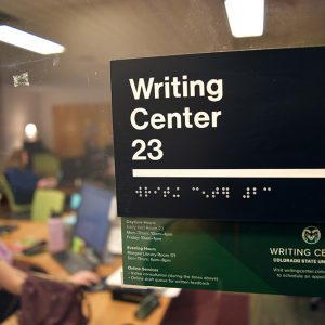 CSU writing center room number