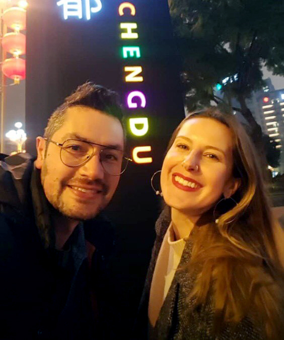 Kristen Mullen and Luis Moya