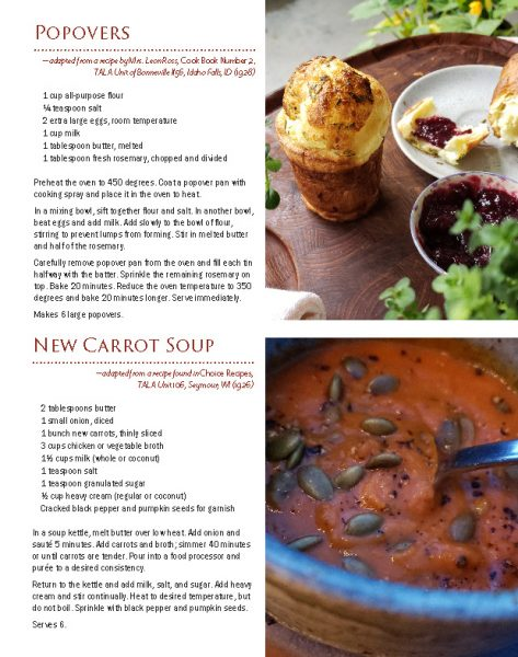 SerVe page image of recipes