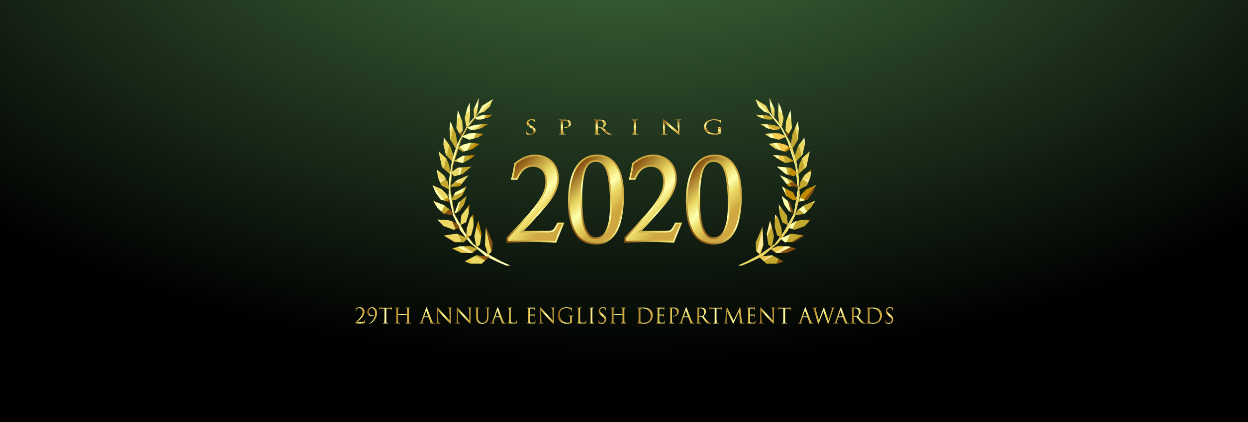 English Department 29th Annual Awards Mobile Banner