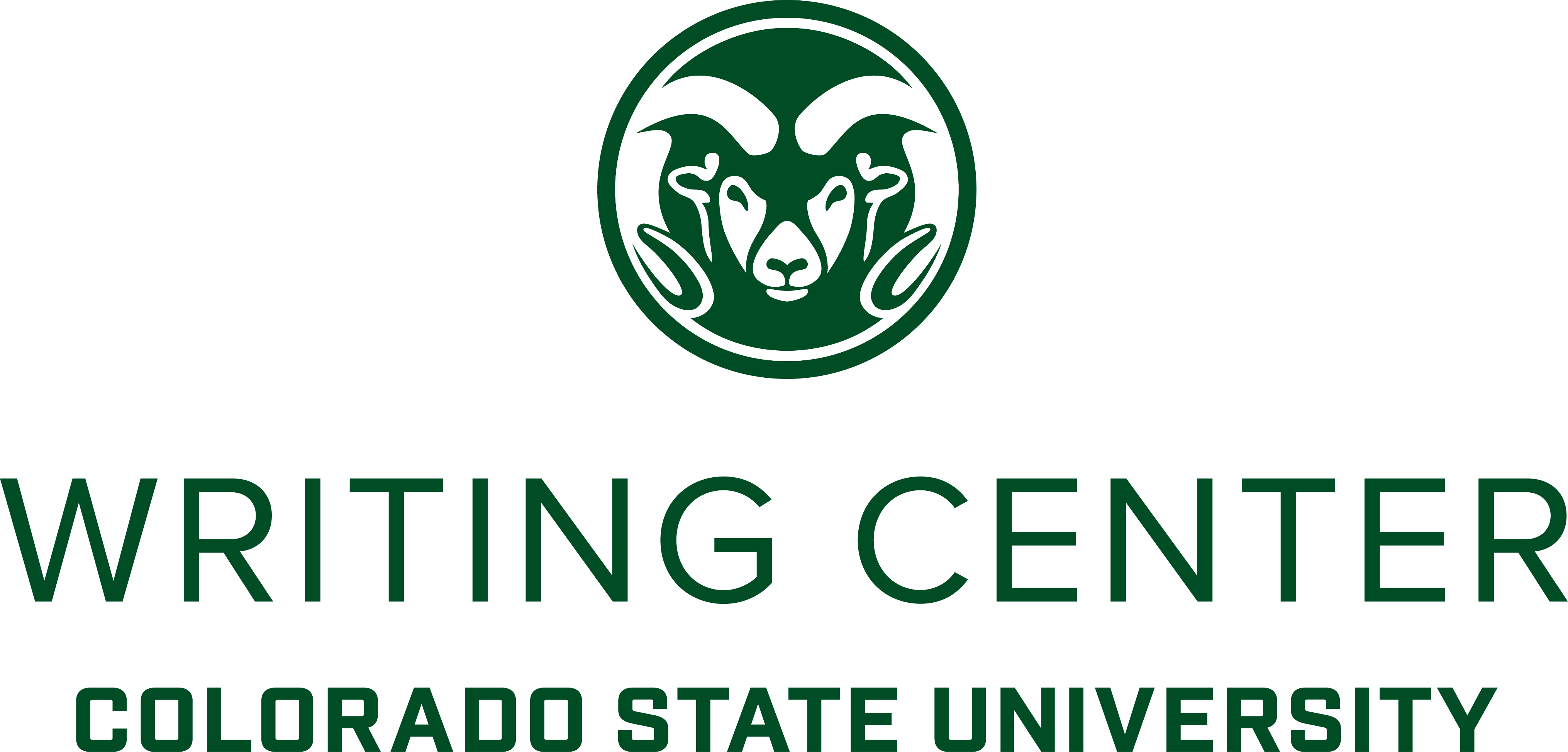 Writing Center Logo Large Centered