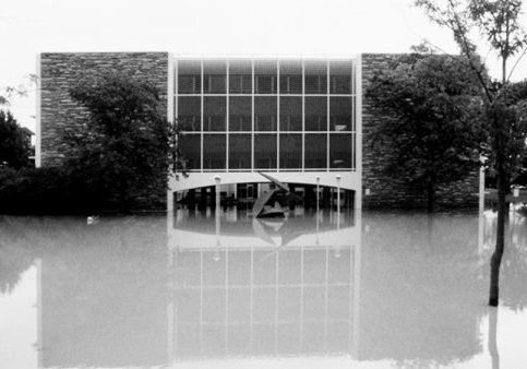 Willard O. Eddy building flooded
